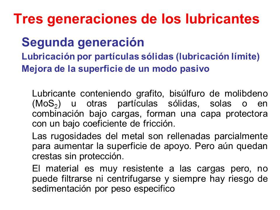 Tres generaciones de los lubricantes
