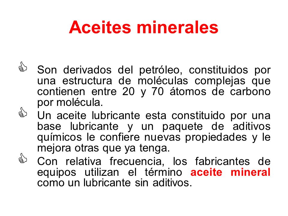 Aceites minerales