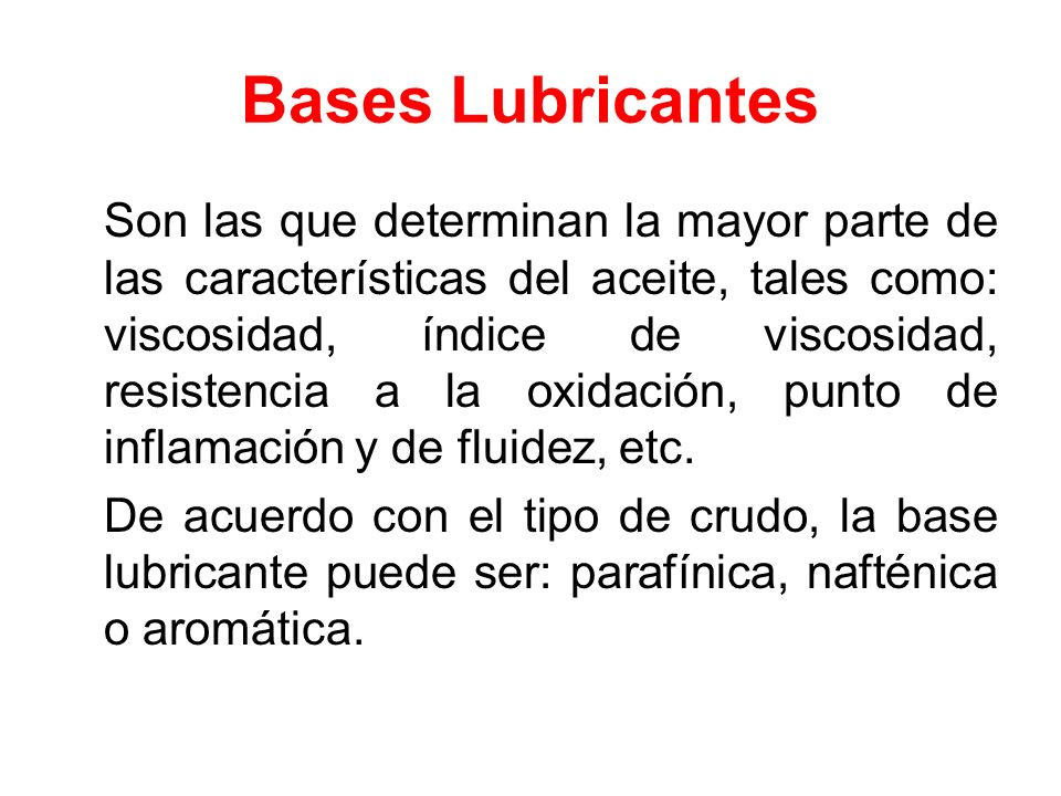 Bases Lubricantes