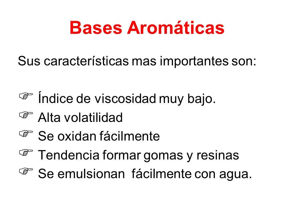 Bases Aromáticas Sus características mas importantes son: