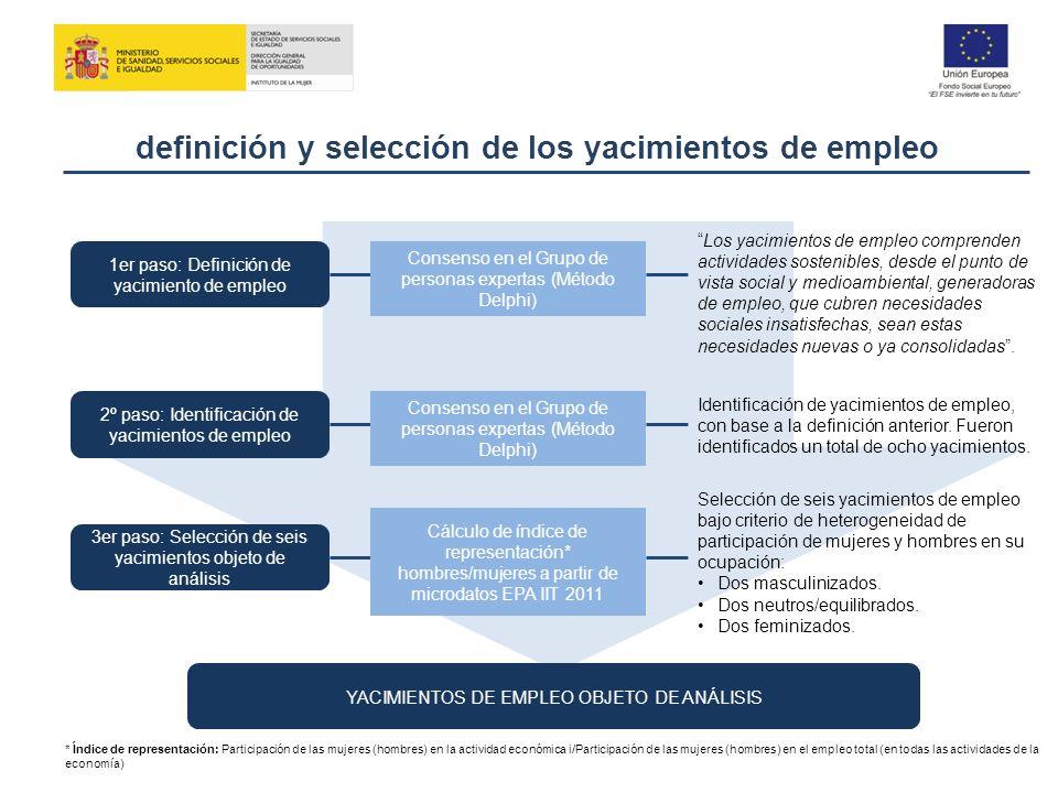 definición y selección de los yacimientos de empleo