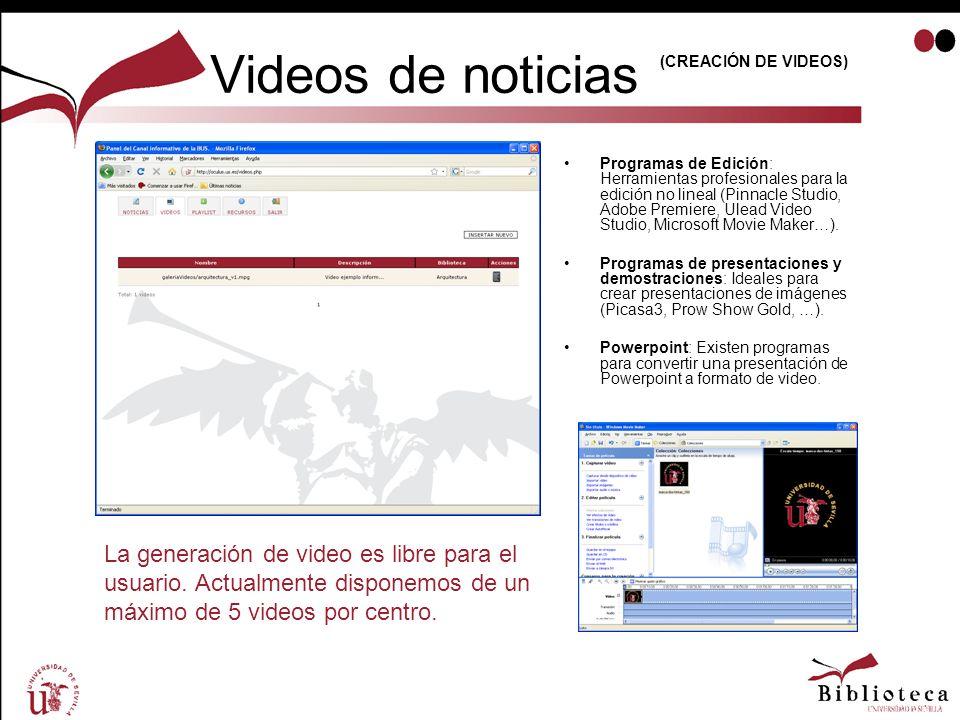 Videos de noticias (CREACIÓN DE VIDEOS)