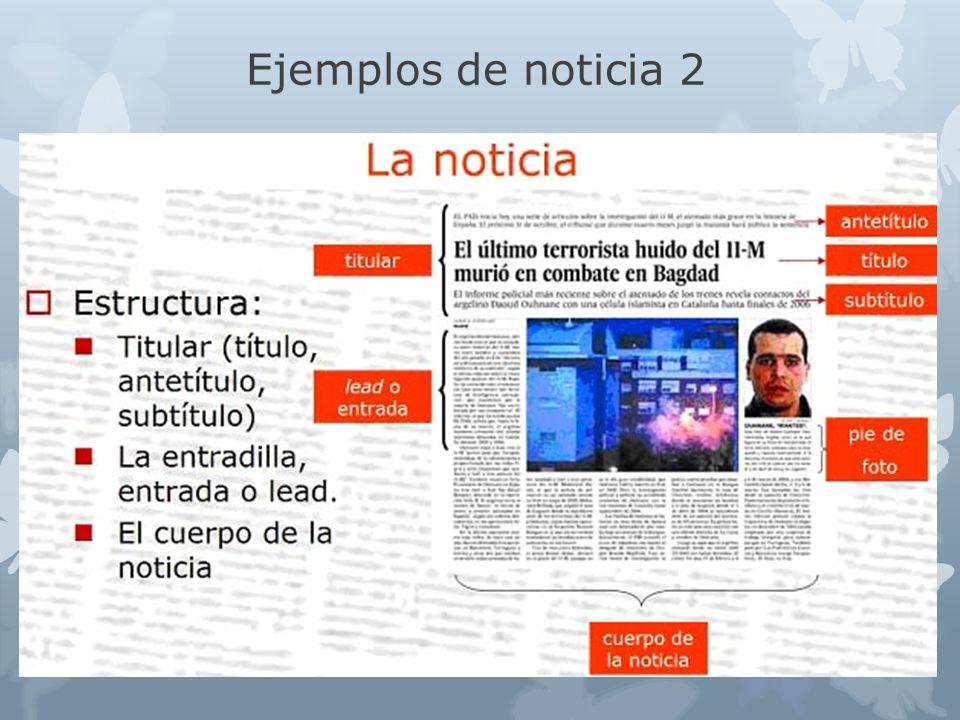 Ejemplos de noticia 2