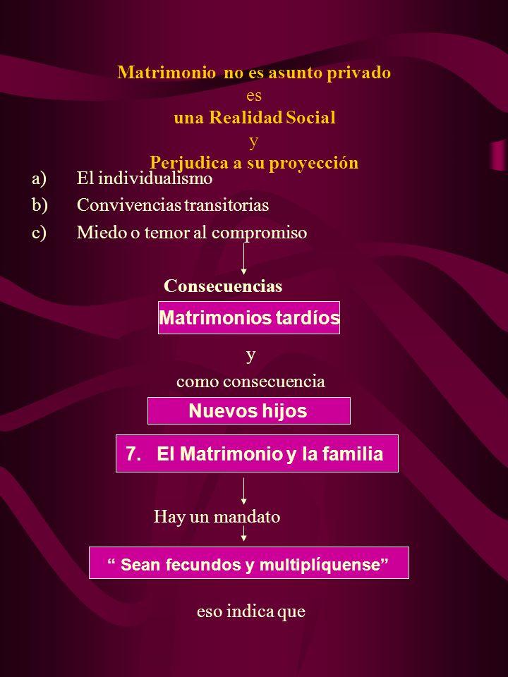 7. El Matrimonio y la familia Sean fecundos y multiplíquense