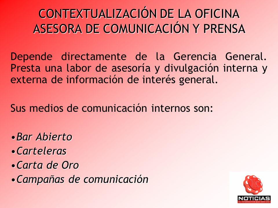 CONTEXTUALIZACIÓN DE LA OFICINA ASESORA DE COMUNICACIÓN Y PRENSA