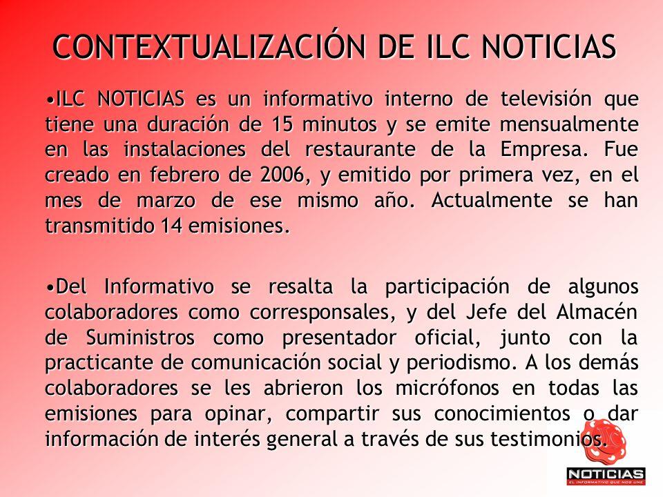 CONTEXTUALIZACIÓN DE ILC NOTICIAS