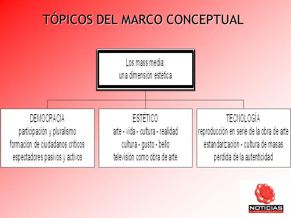 TÓPICOS DEL MARCO CONCEPTUAL