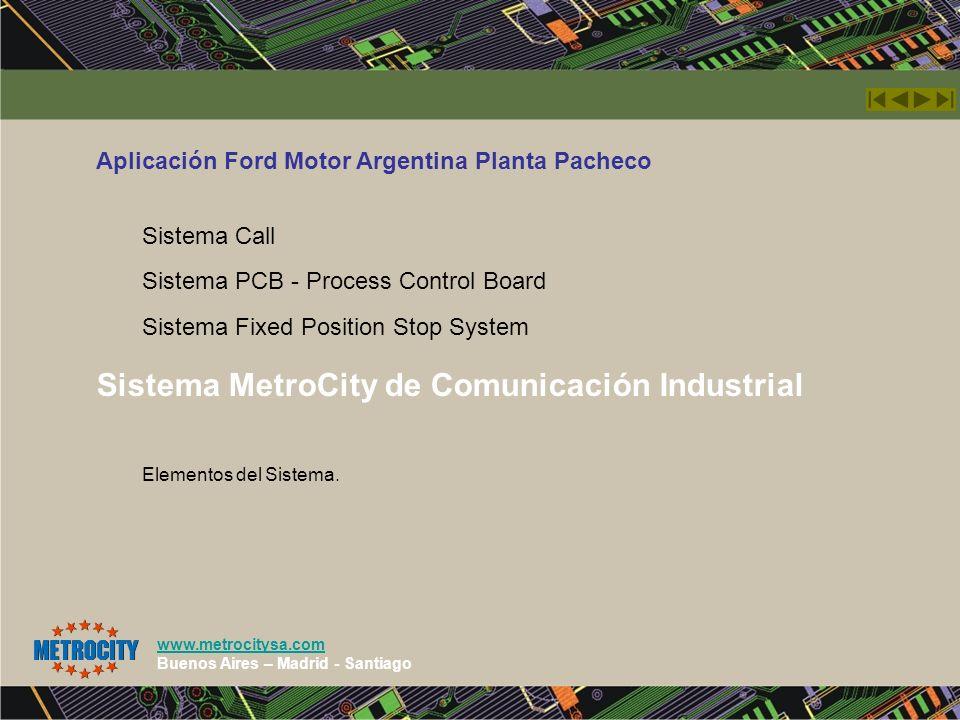 Sistema MetroCity de Comunicación Industrial