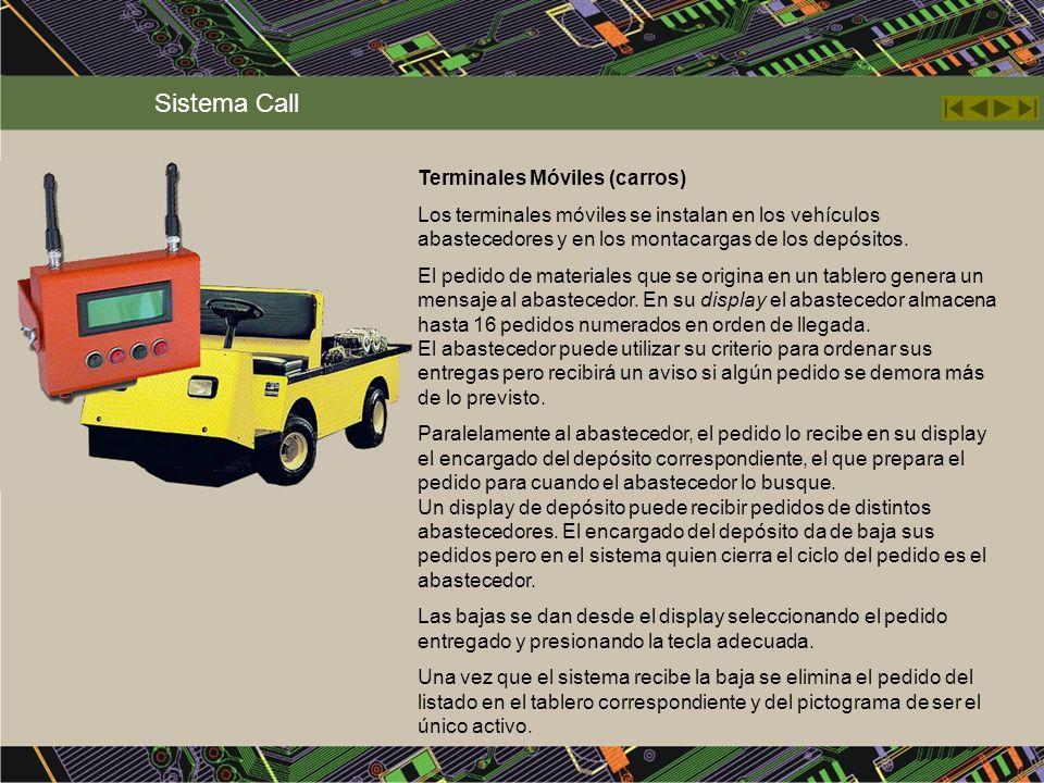 Sistema Call Terminales Móviles (carros)