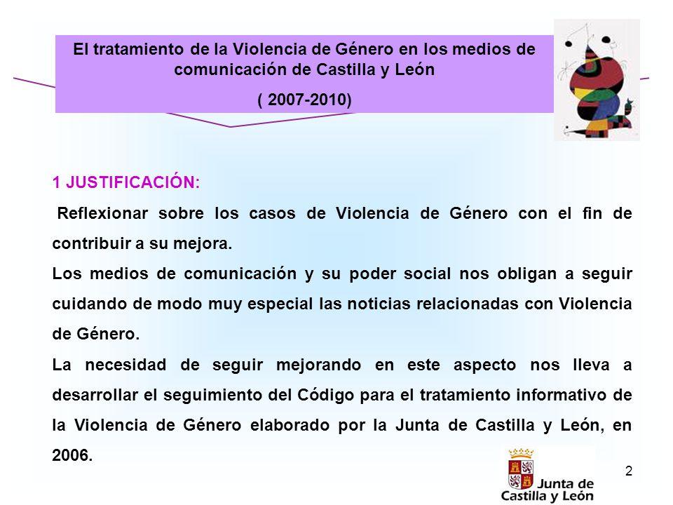 El tratamiento de la Violencia de Género en los medios de comunicación de Castilla y León