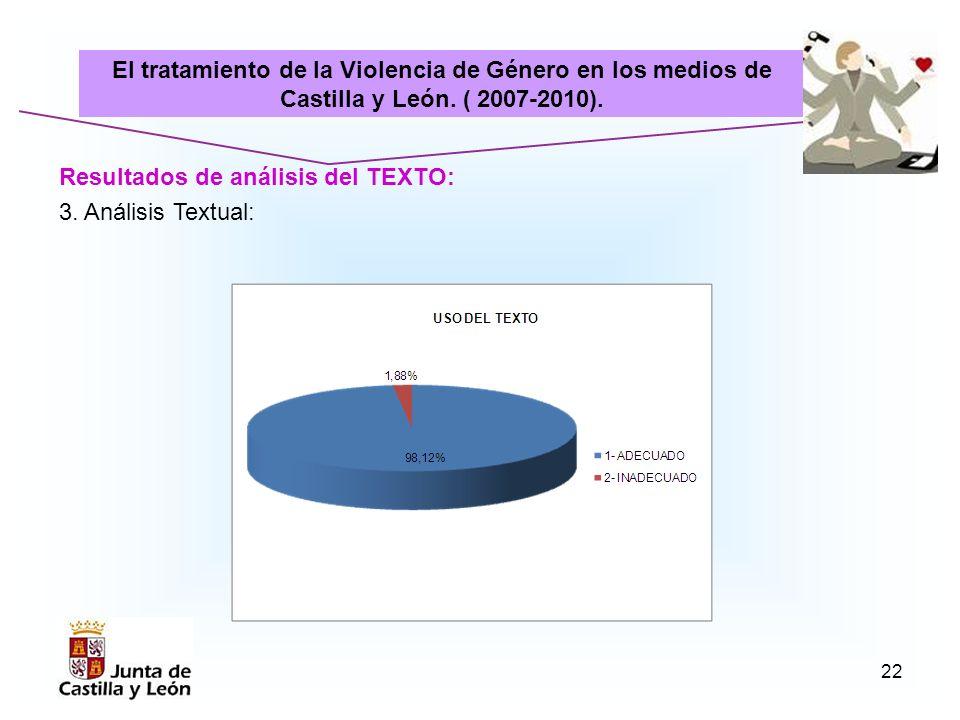 El tratamiento de la Violencia de Género en los medios de Castilla y León. ( 2007-2010).
