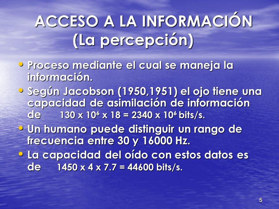 ACCESO A LA INFORMACIÓN (La percepción)