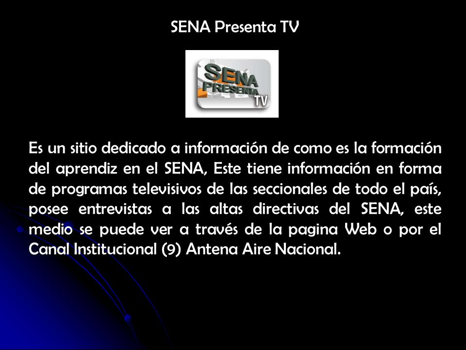 SENA Presenta TV