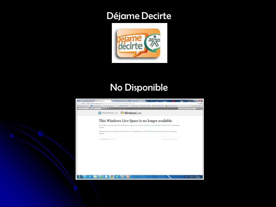 Déjame Decirte No Disponible