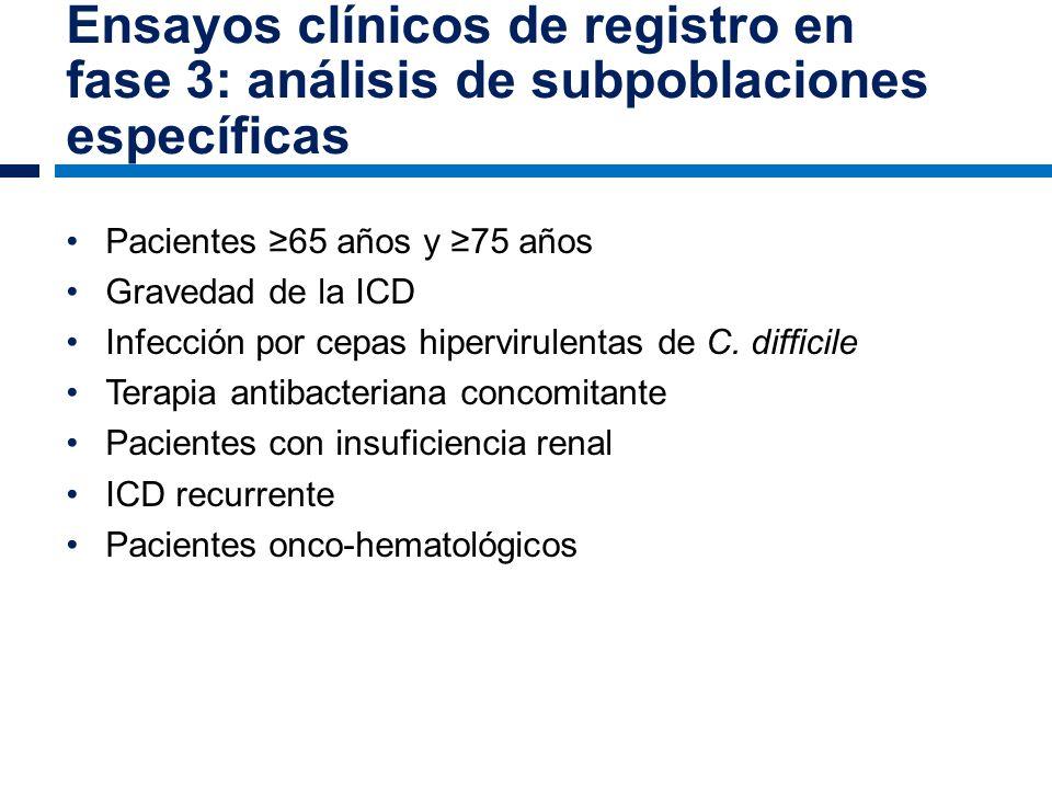 Ensayos clínicos de registro en fase 3: análisis de subpoblaciones específicas