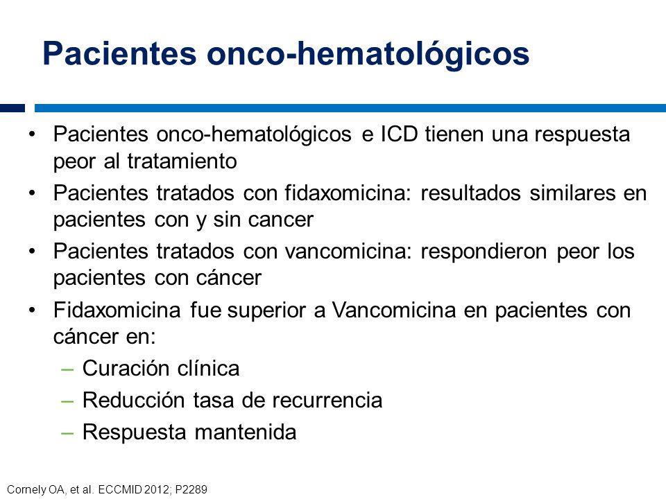 Pacientes onco-hematológicos