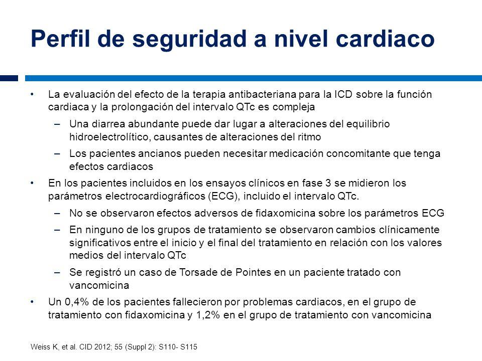 Perfil de seguridad a nivel cardiaco