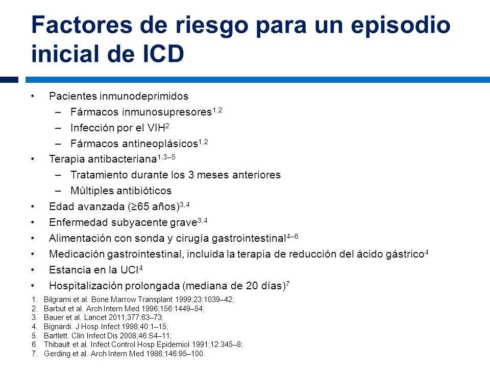 Factores de riesgo para un episodio inicial de ICD