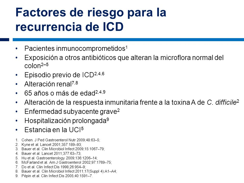 Factores de riesgo para la recurrencia de ICD