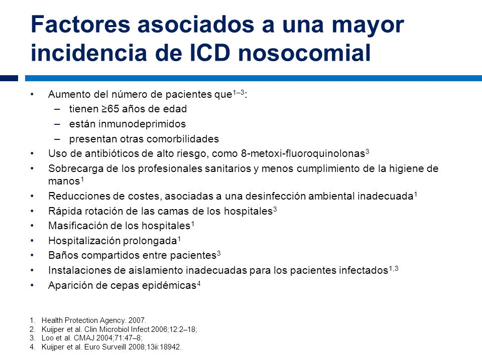 Factores asociados a una mayor incidencia de ICD nosocomial