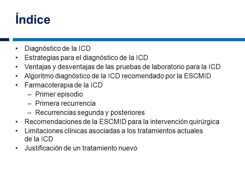 Índice Diagnóstico de la ICD Estrategias para el diagnóstico de la ICD