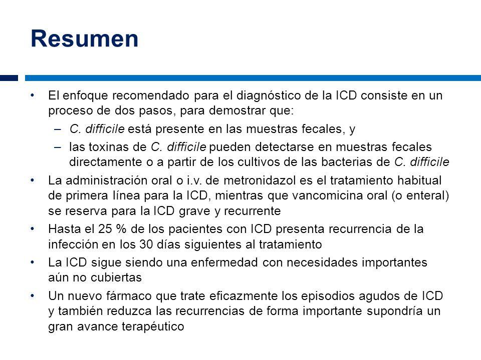 Resumen El enfoque recomendado para el diagnóstico de la ICD consiste en un proceso de dos pasos, para demostrar que: