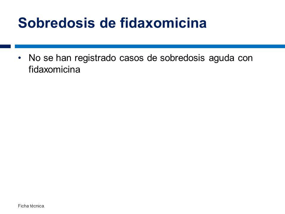 Sobredosis de fidaxomicina