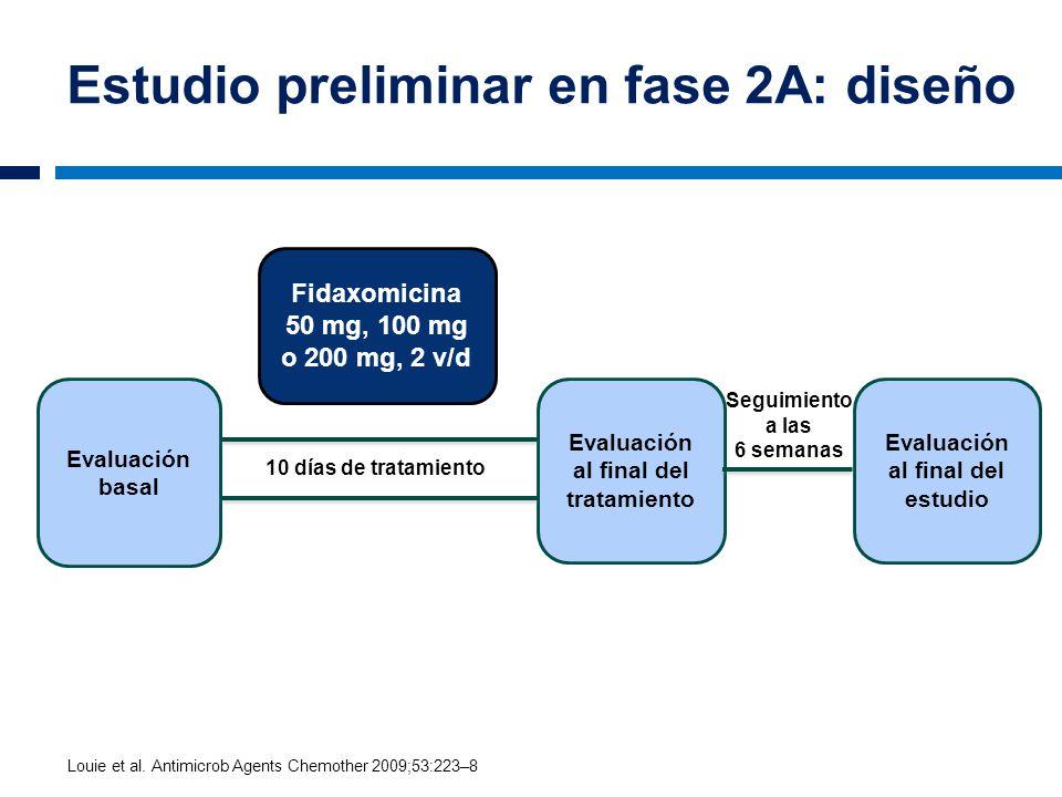 Estudio preliminar en fase 2A: diseño