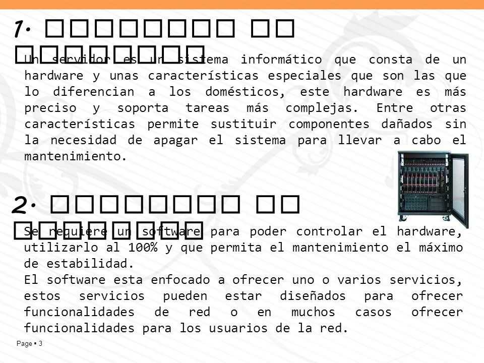 1. Aspectos de hardware 2. Aspectos de software