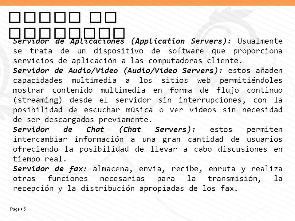 Tipos de servidor