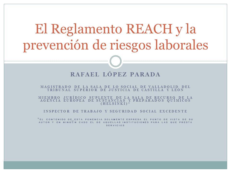 El Reglamento REACH y la prevención de riesgos laborales