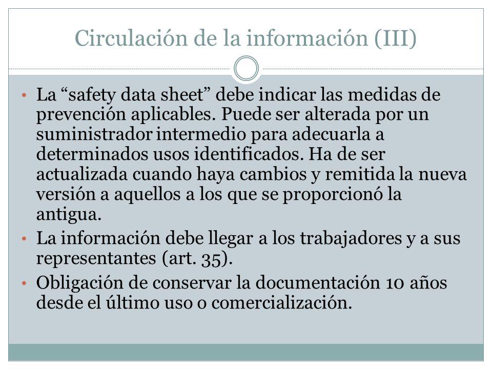 Circulación de la información (III)