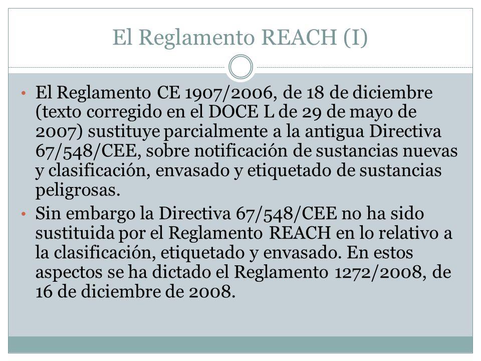 El Reglamento REACH (I)