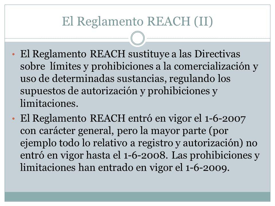 El Reglamento REACH (II)