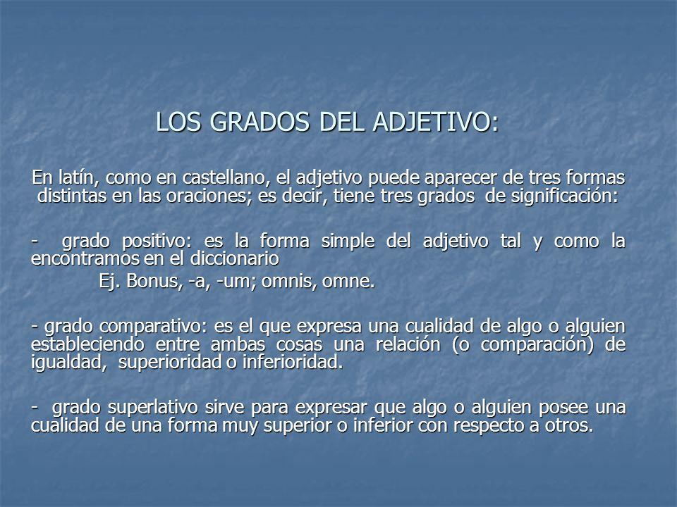 LOS GRADOS DEL ADJETIVO: