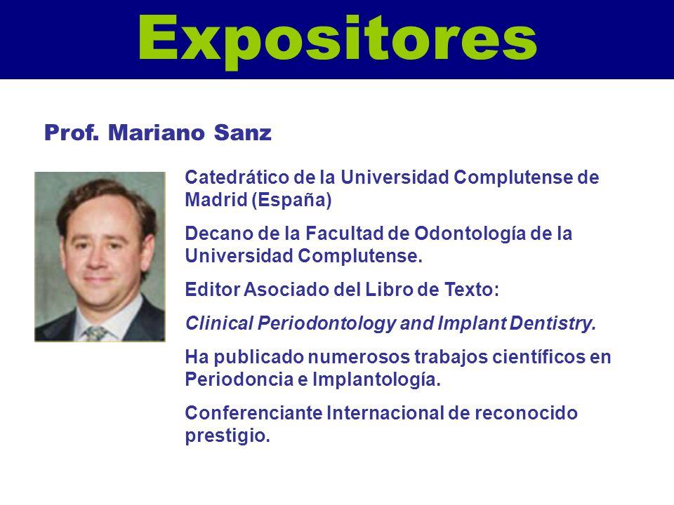Expositores Prof. Mariano Sanz