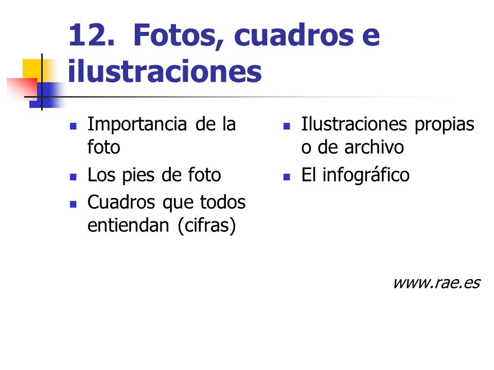 12. Fotos, cuadros e ilustraciones