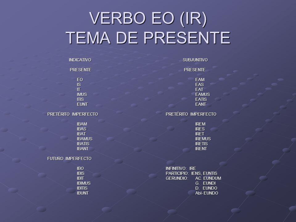 VERBO EO (IR) TEMA DE PRESENTE