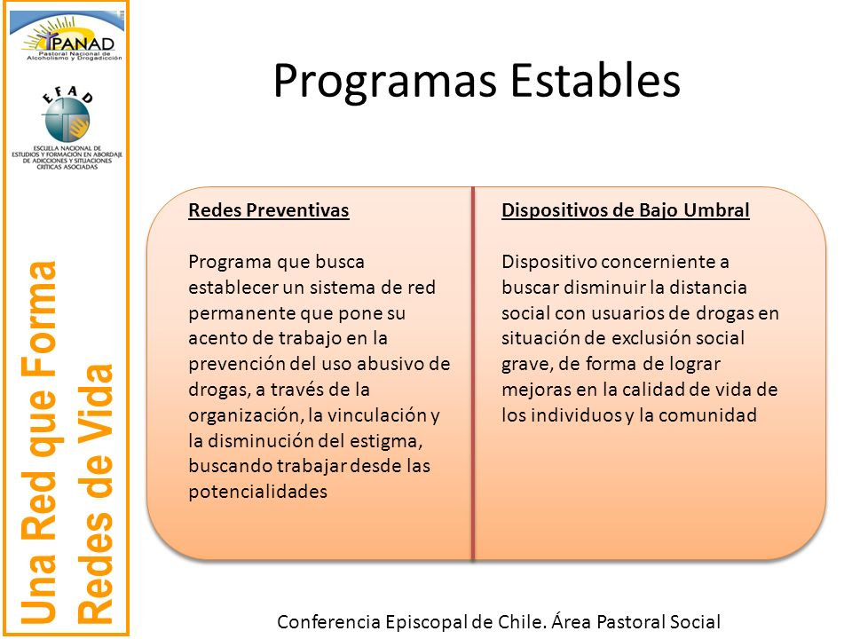 Programas Estables Redes Preventivas