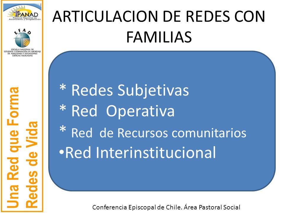 ARTICULACION DE REDES CON FAMILIAS