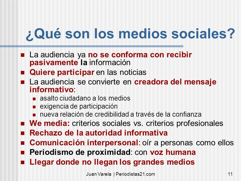 ¿Qué son los medios sociales