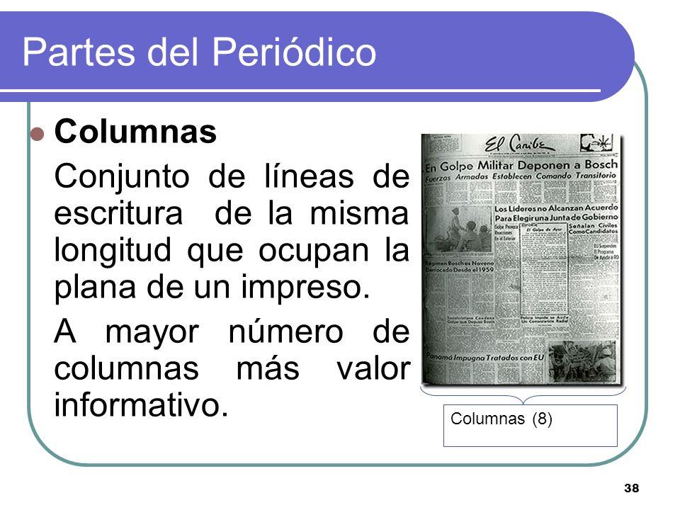 Partes del Periódico Columnas