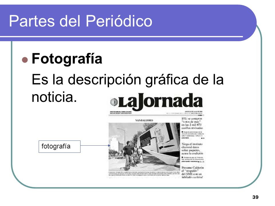 Partes del Periódico Fotografía