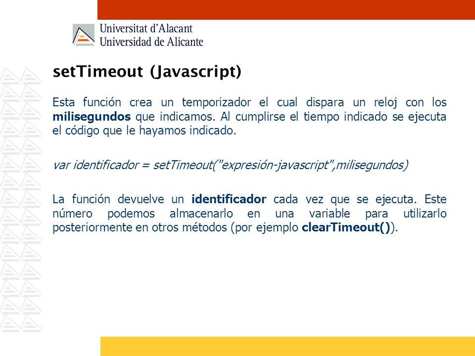 setTimeout (Javascript)