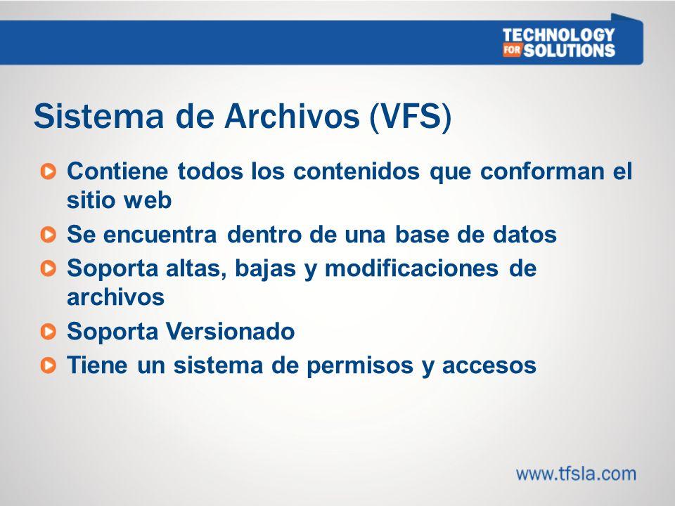 Sistema de Archivos (VFS)