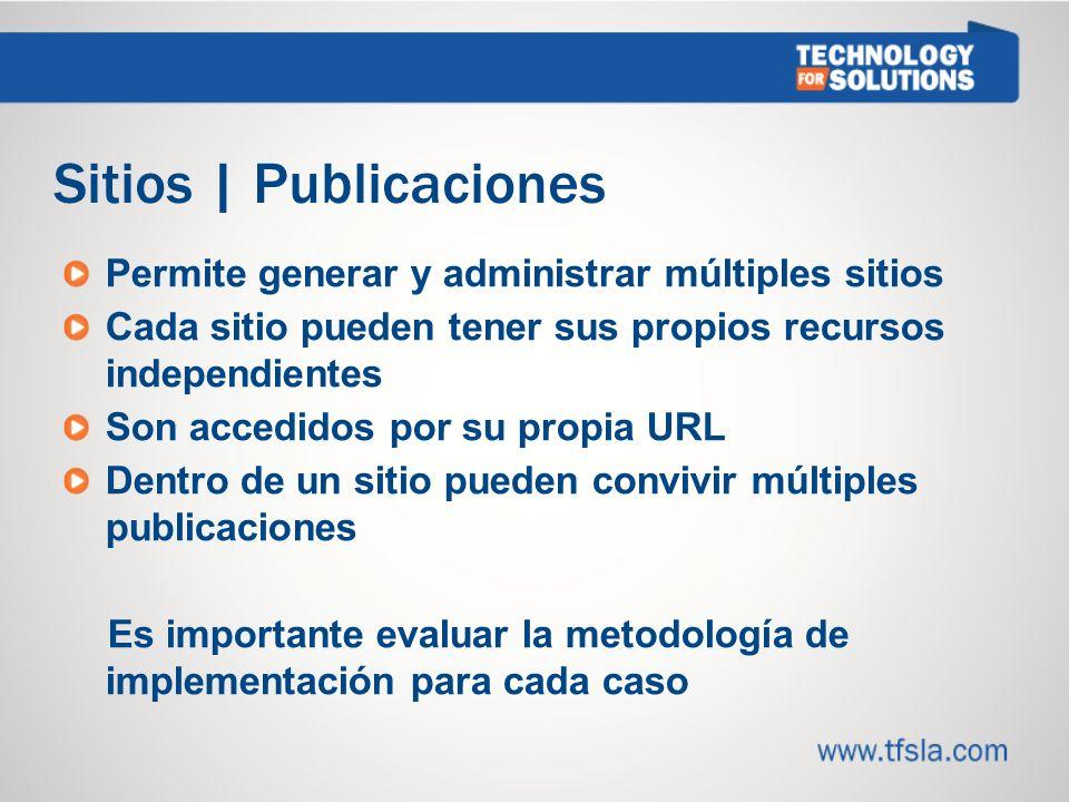 Sitios | Publicaciones