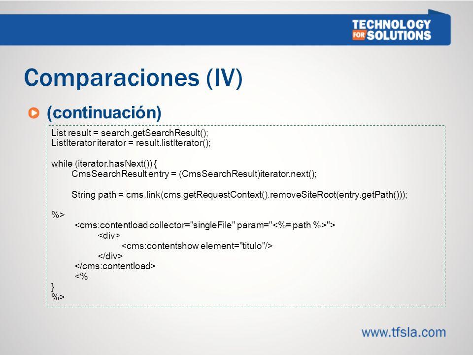 Comparaciones (IV) (continuación) 3434