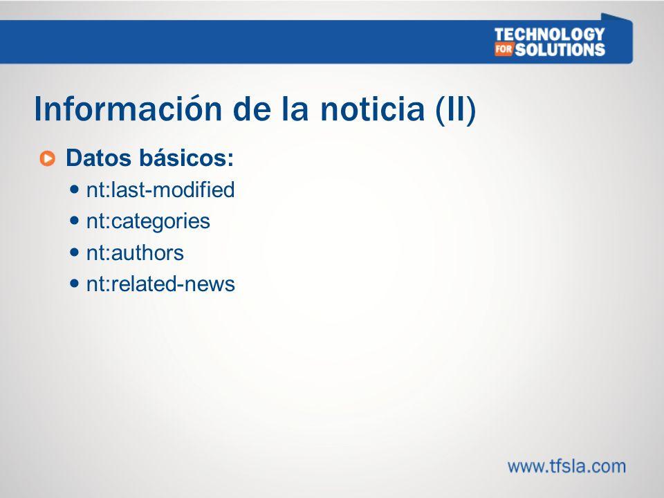Información de la noticia (II)