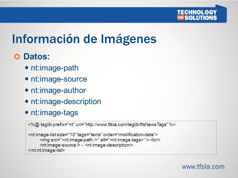 Información de Imágenes
