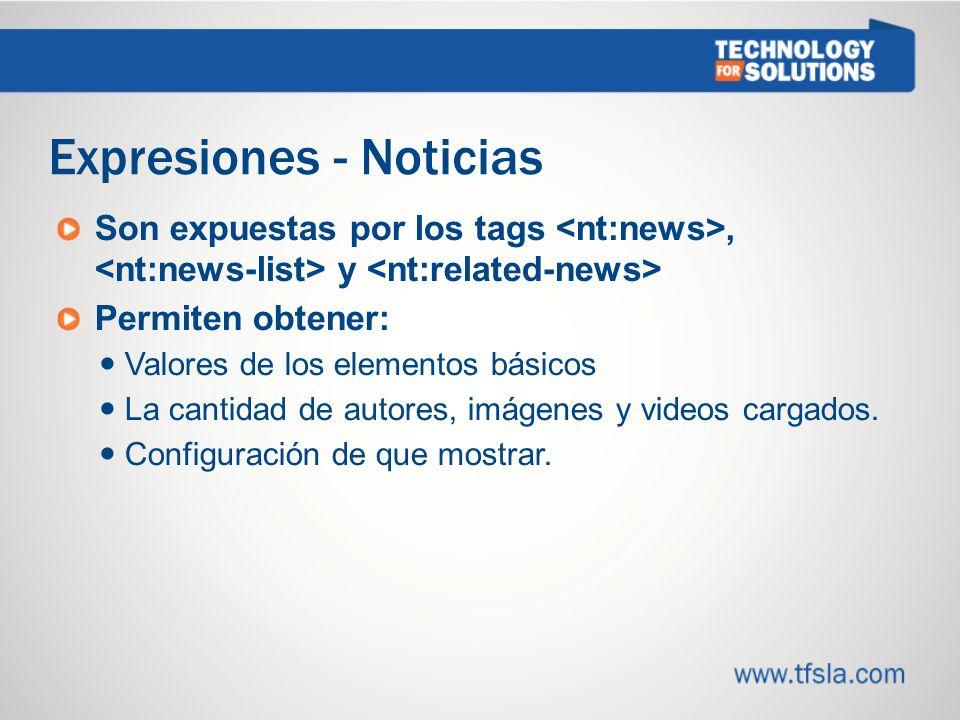 Expresiones - Noticias